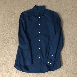Men's Slim Fit Long-Sleeve Button-Up Dress Shirt